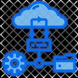 Cloud Network Dualtone Icon