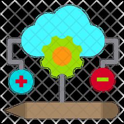 Cloud Optimization Icon