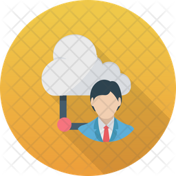 Cloud Outsource Icon