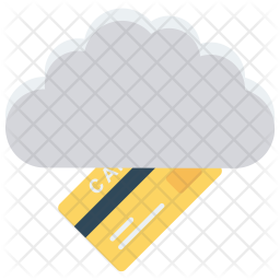 Cloud payment Icon