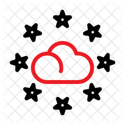 Cloud Rating Line Icon