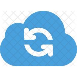 Cloud-refresh Flat Icon