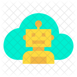 Cloud Robot Icon