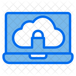 Cloud Security Colored Outline Icon