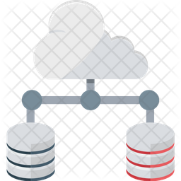 Cloud Server Flat Icon