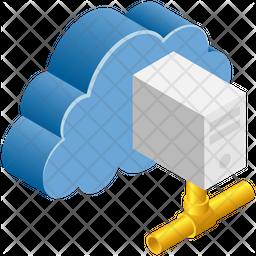 Cloud Server Isometric Icon