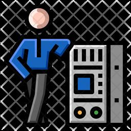 Cloud Server Engineer Icon