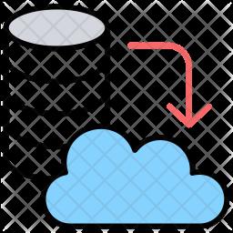 Cloud Server Hosting Icon