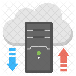 Cloud Server Processing Flat Icon
