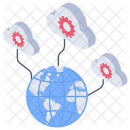 Cloud Services Isometric Icon