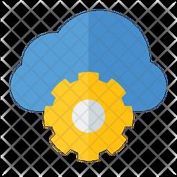 Cloud Setting Flat Icon