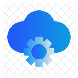 Cloud Setting Gradient Icon
