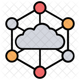 Cloud Sharing Service Icon