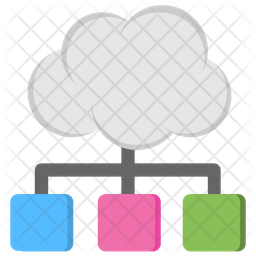 Cloud Sharing Service Flat Icon