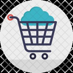 Cloud Shopping Cart Icon