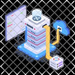 Cloud Storage Isometric Icon