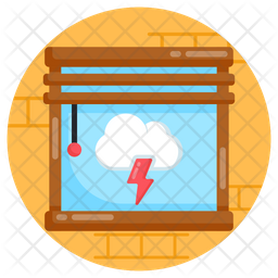 Cloud Storm Flat Icon