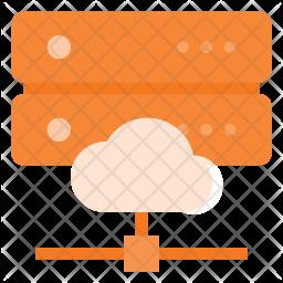 Cloud synchronize database Icon