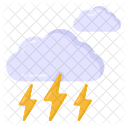 Cloud Thunderstorm Flat Icon
