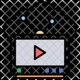 Cloud Tv Icon