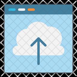 Cloud Upload Flat Icon