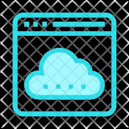 Cloud webpage Icon