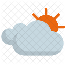 Clouded sun Icon