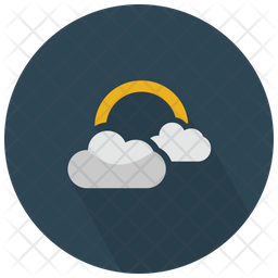 Clouds With Sunlight Icon