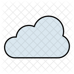 Cloudy Colored Outline Icon