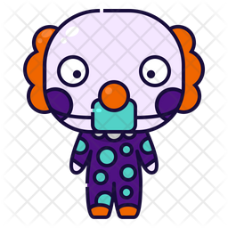 Clown Colored Outline Icon