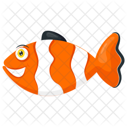 Clown Fish Icon Of Flat Style Available In Svg Png Eps Ai Icon Fonts