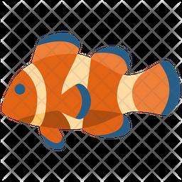 Clownfish Flat Icon