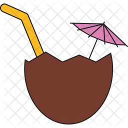 Cocktail in Coconut Icon