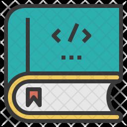 Coding Book Colored Outline Icon