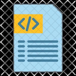 Coding File Flat Icon