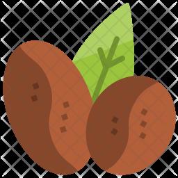 Coffee bean Flat Icon
