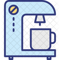 Coffee brewer Colored Outline Icon
