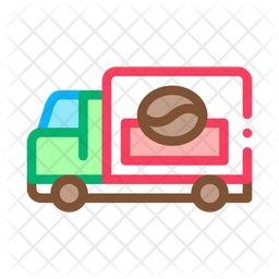 Coffee Delivery Truck Icon