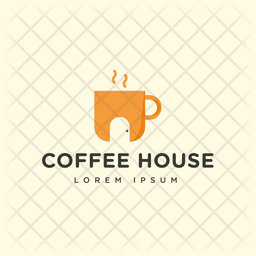Coffee House Colored Outline  Logo Icon