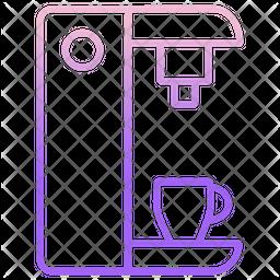Coffee Machine Gradient Icon