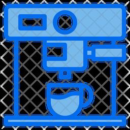 Coffee Machine Colored Outline Icon