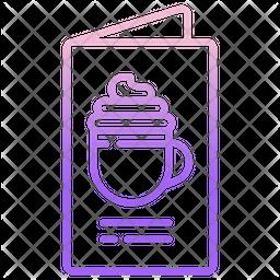Coffee Menu Gradient Icon