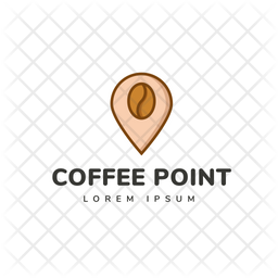 Coffee Point Colored Outline  Logo Icon
