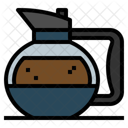 Coffee pot Colored Outline Icon