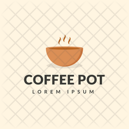 Coffee Pot Colored Outline  Logo Icon