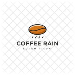 Coffee Rain Colored Outline  Logo Icon
