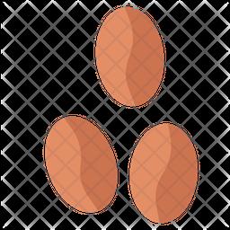 Coffee Seeds Flat Icon