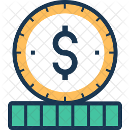 Coin Colored Outline Icon
