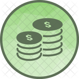 Coins Flat Icon