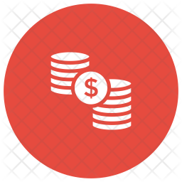 Coins Glyph Icon